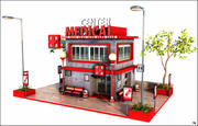 Centre médical 3d model