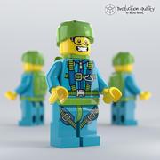 Lego Sky Diver Figure 3d model