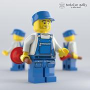 레고 배관공 그림 3d model