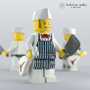 레고 정육점 그림 3d model