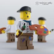 Lego Artist Figure 3d model