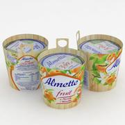 Almette Fruit Apricot Vanilla 150g 3d model