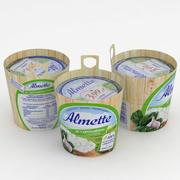 Almette Spinach and Garlic 150g 3d model