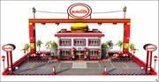 Burger Restaurant Cartoon 3d model