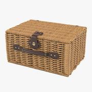 Willow Picnic Basket 3d model