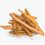 Pommes frites 2 3d model