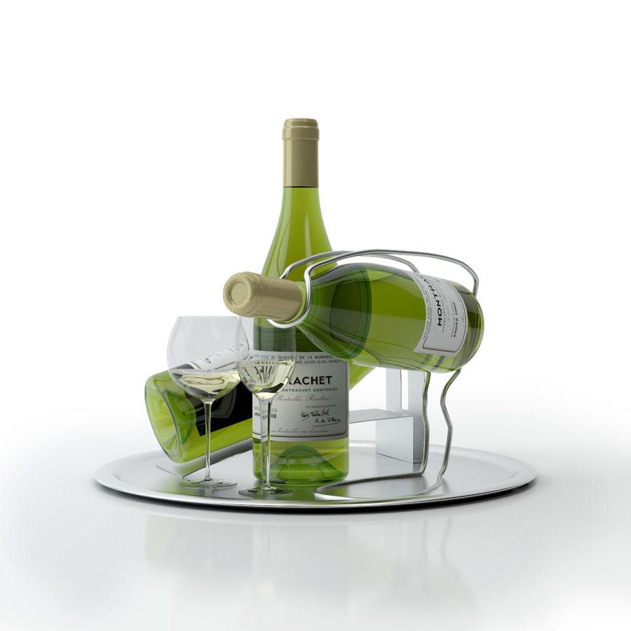 와인 14 병 12 종류의 와인 잔, 트레이, 와인 홀더 \ 스탠드 (Vray and Corona render) royalty-free 3d model - Preview no. 25