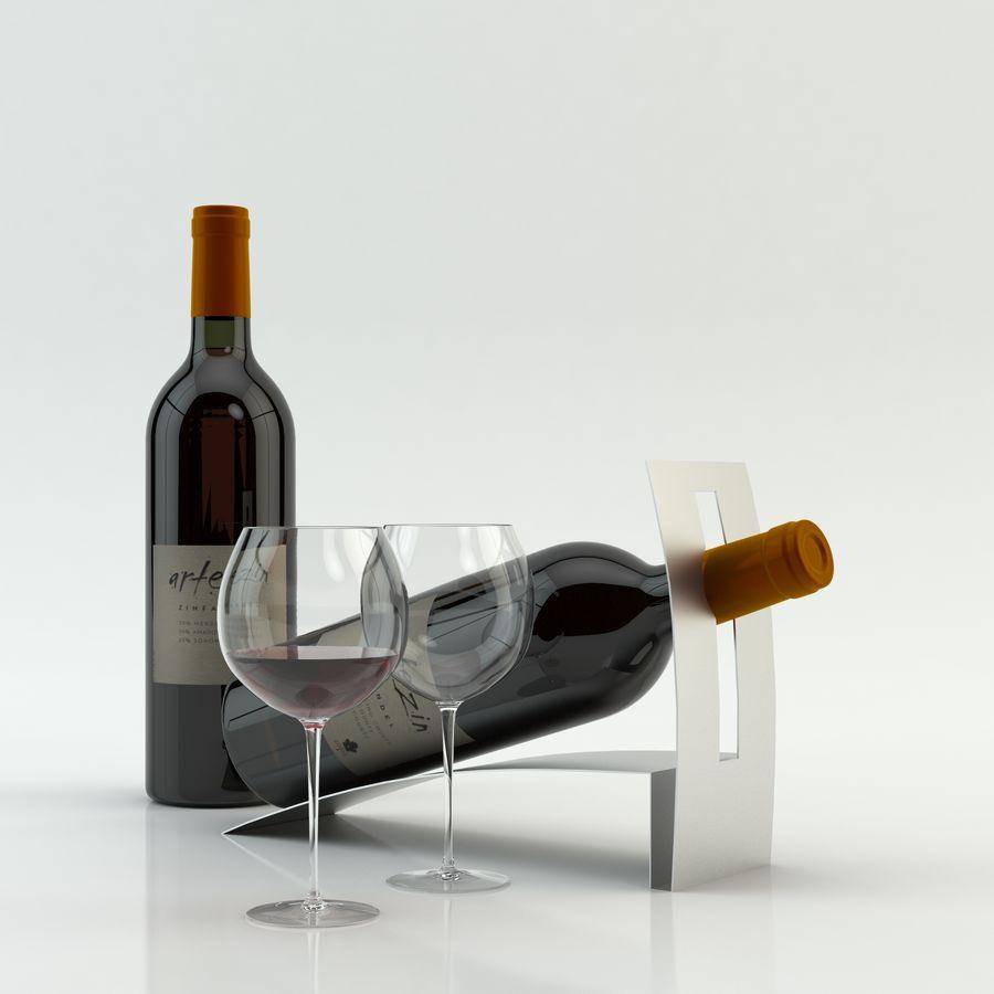 와인 14 병 12 종류의 와인 잔, 트레이, 와인 홀더 \ 스탠드 (Vray and Corona render) royalty-free 3d model - Preview no. 27