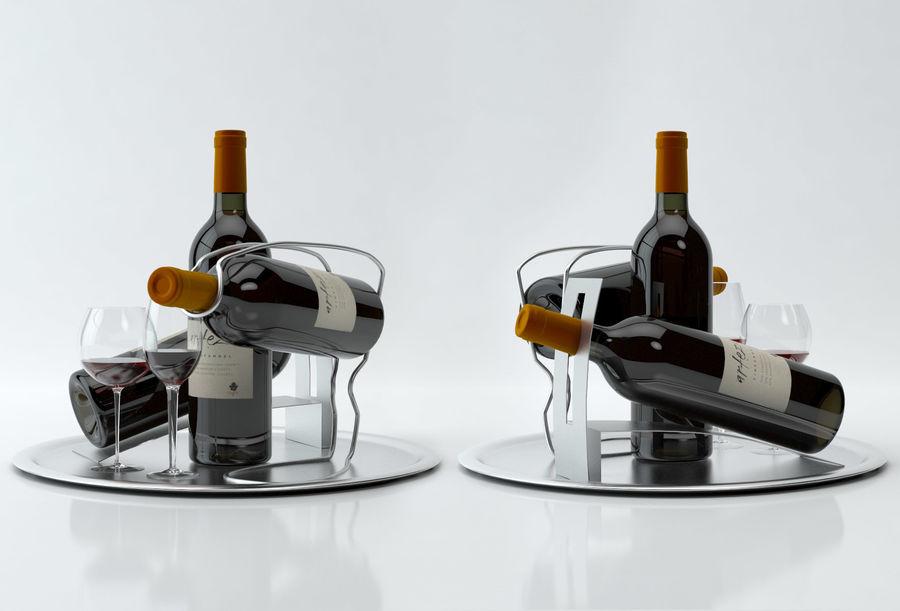 와인 14 병 12 종류의 와인 잔, 트레이, 와인 홀더 \ 스탠드 (Vray and Corona render) royalty-free 3d model - Preview no. 26