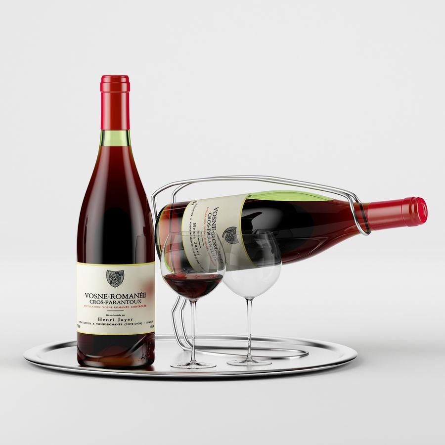 와인 14 병 12 종류의 와인 잔, 트레이, 와인 홀더 \ 스탠드 (Vray and Corona render) royalty-free 3d model - Preview no. 29