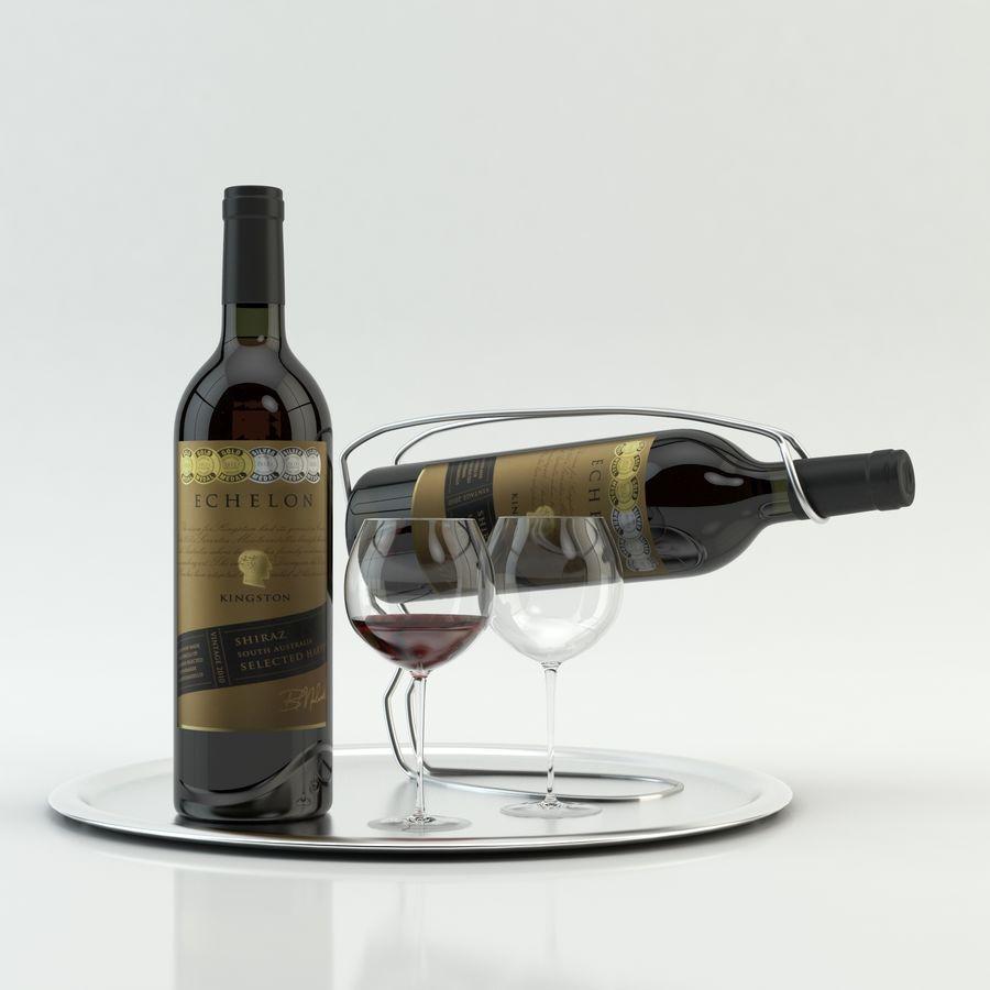와인 14 병 12 종류의 와인 잔, 트레이, 와인 홀더 \ 스탠드 (Vray and Corona render) royalty-free 3d model - Preview no. 19