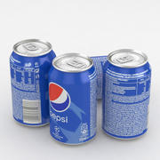 Beverage can Pepsi Champions League 330ml 330ml 3d model