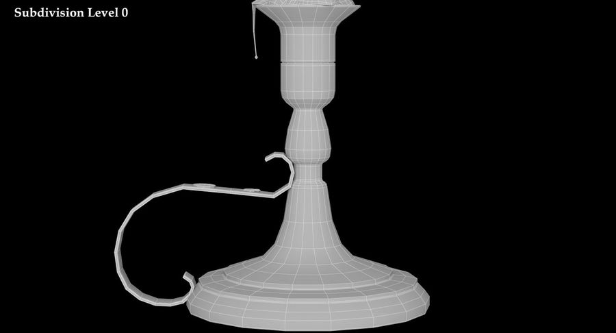 Candlestick with Candle royalty-free 3d model - Preview no. 13