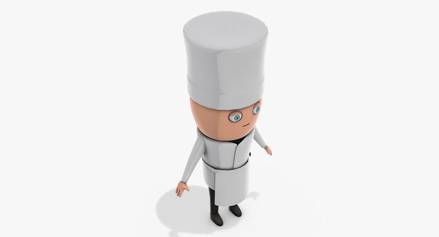 Chef dos desenhos animados royalty-free 3d model - Preview no. 8