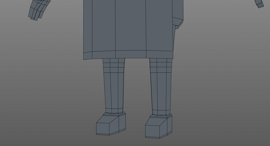 Chef dos desenhos animados royalty-free 3d model - Preview no. 19