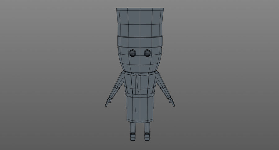 Chef dos desenhos animados royalty-free 3d model - Preview no. 16