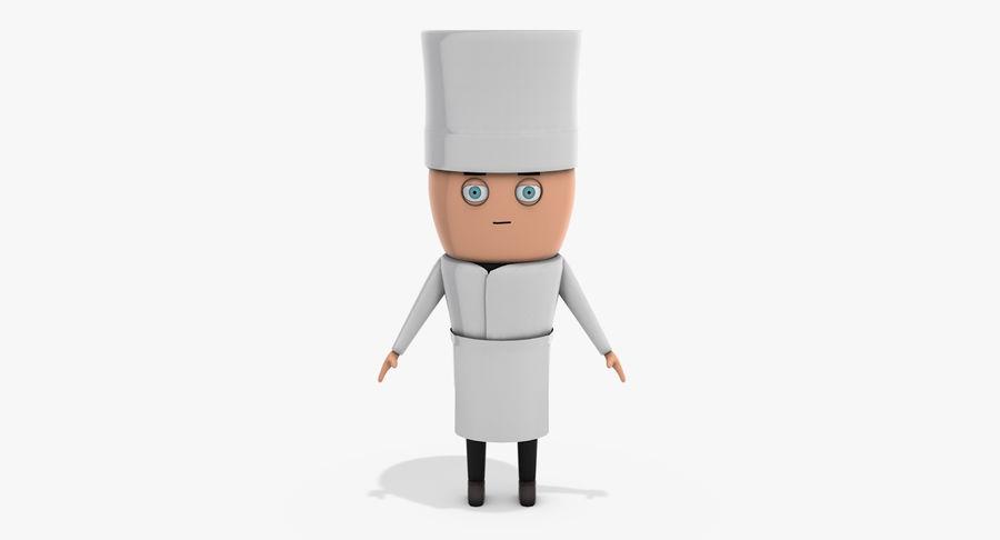 Chef dos desenhos animados royalty-free 3d model - Preview no. 7