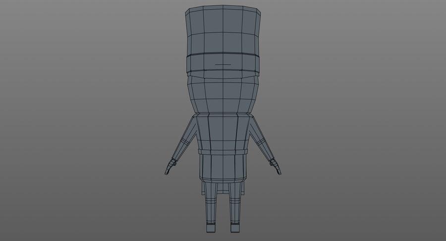 Chef dos desenhos animados royalty-free 3d model - Preview no. 14