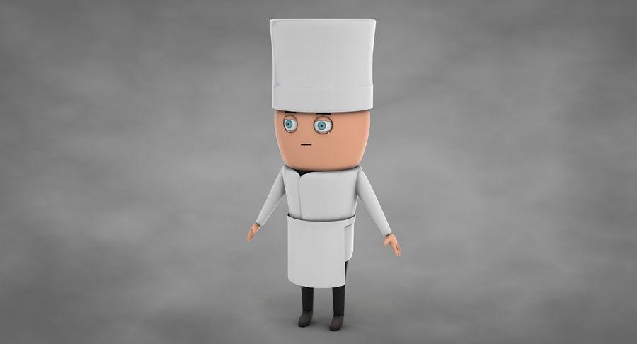 Chef dos desenhos animados royalty-free 3d model - Preview no. 3