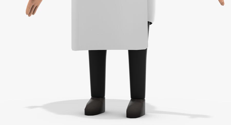 Chef dos desenhos animados royalty-free 3d model - Preview no. 10