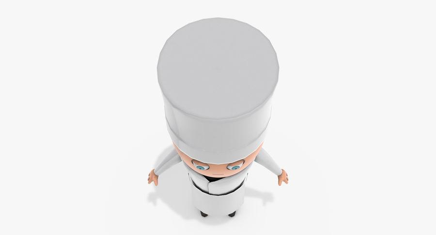 Chef dos desenhos animados royalty-free 3d model - Preview no. 6