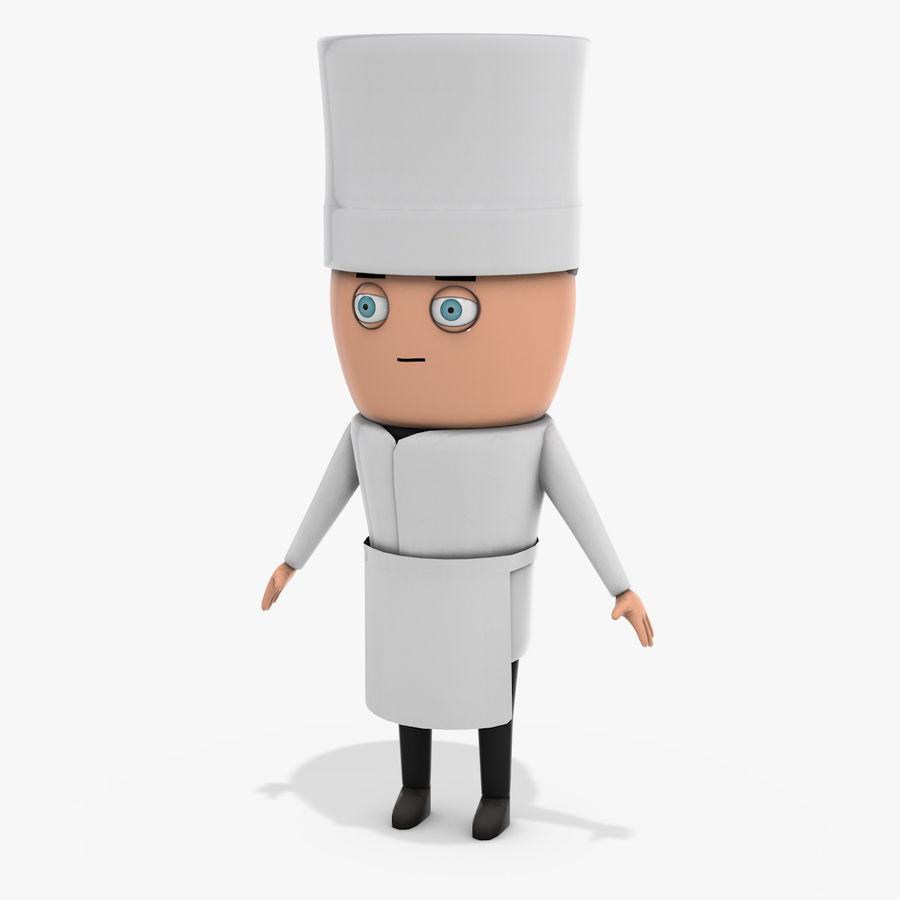 Chef dos desenhos animados royalty-free 3d model - Preview no. 1