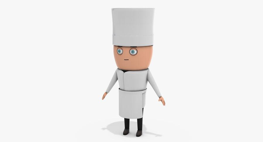 Chef dos desenhos animados royalty-free 3d model - Preview no. 2