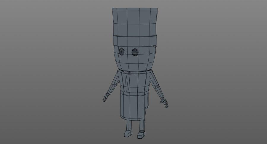 Chef dos desenhos animados royalty-free 3d model - Preview no. 12