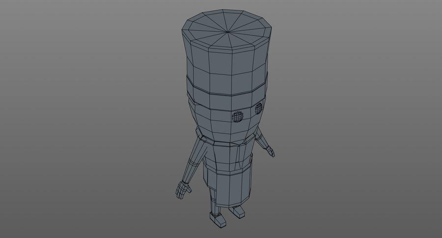 Chef dos desenhos animados royalty-free 3d model - Preview no. 17