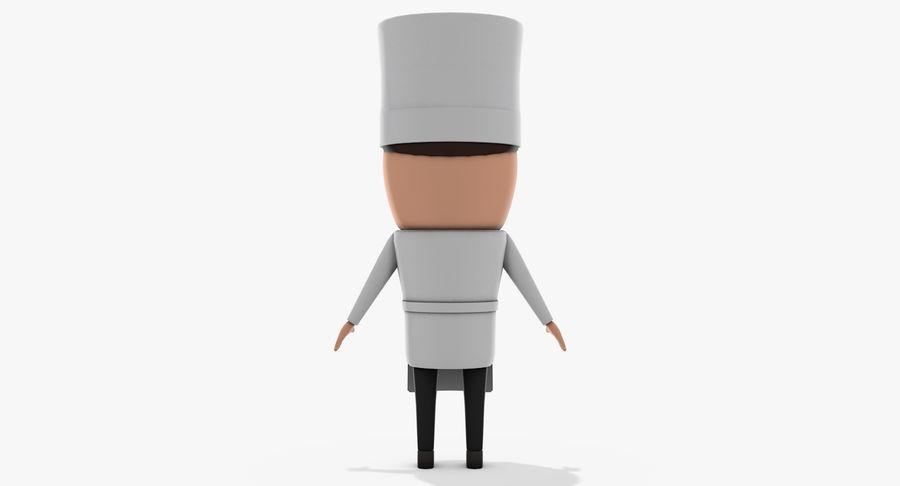 Chef dos desenhos animados royalty-free 3d model - Preview no. 5