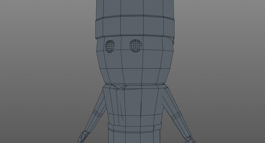 Chef dos desenhos animados royalty-free 3d model - Preview no. 18
