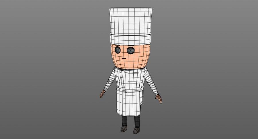 Chef dos desenhos animados royalty-free 3d model - Preview no. 11
