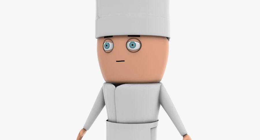 Chef dos desenhos animados royalty-free 3d model - Preview no. 9