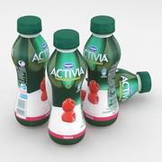 Bottiglia da latte Danone Activia Raspberry 300g 3d model