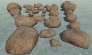 29低ポリ岩 3d model