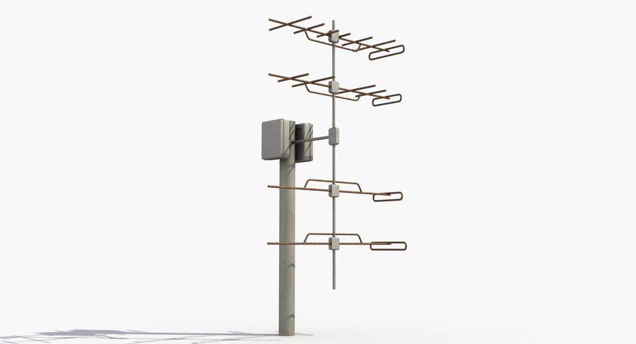 Antenna 2 royalty-free 3d model - Preview no. 7