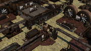 スチームパンクな産業用ゲーム環境資産-トップダウンの一人称シューティングゲーム 3d model