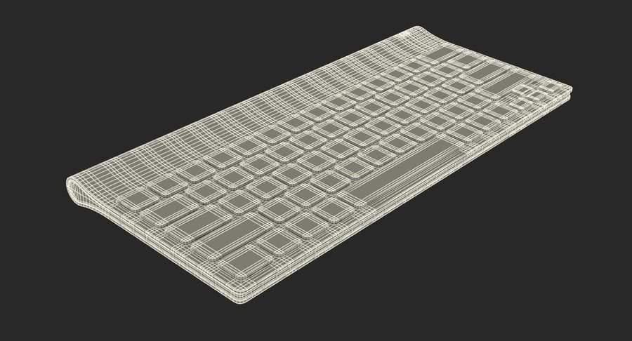 Logitech Tablet Keyboard royalty-free 3d model - Preview no. 23