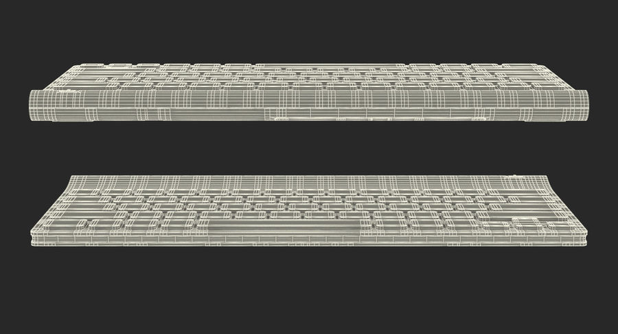 Logitech Tablet Keyboard royalty-free 3d model - Preview no. 22