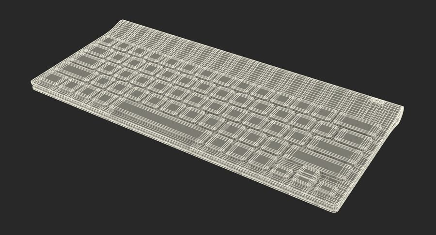 Logitech Tablet Keyboard royalty-free 3d model - Preview no. 24