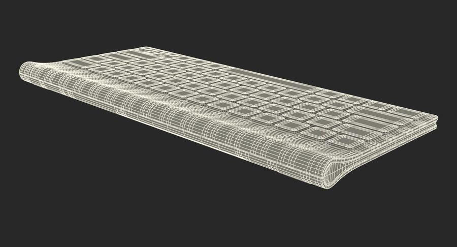 Logitech Tablet Keyboard royalty-free 3d model - Preview no. 25