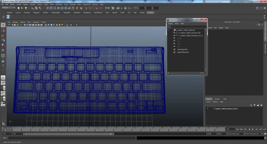 Logitech Tablet Keyboard royalty-free 3d model - Preview no. 19