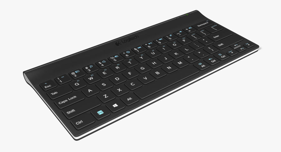 Logitech Tablet Keyboard royalty-free 3d model - Preview no. 2