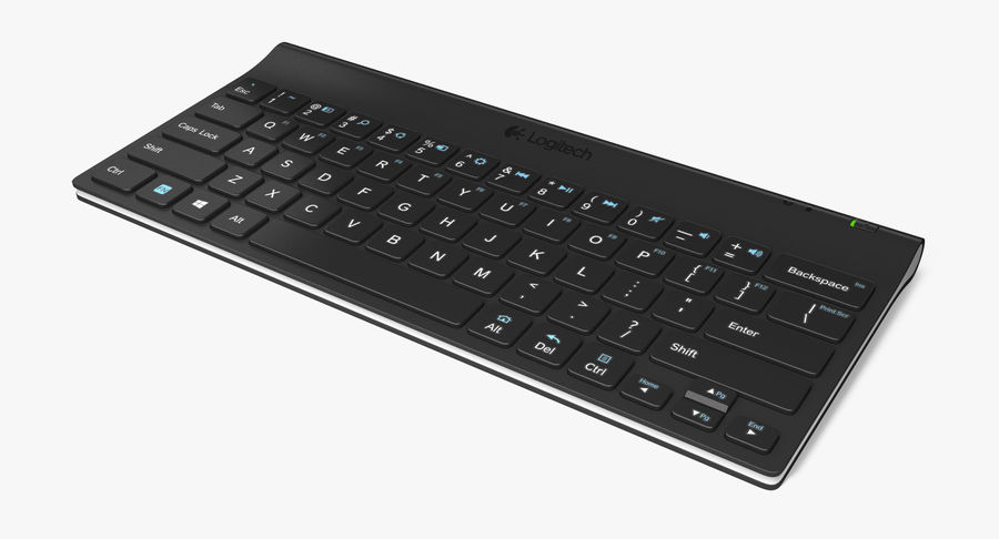 Logitech Tablet Keyboard royalty-free 3d model - Preview no. 3
