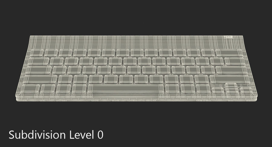 Logitech Tablet Keyboard royalty-free 3d model - Preview no. 12