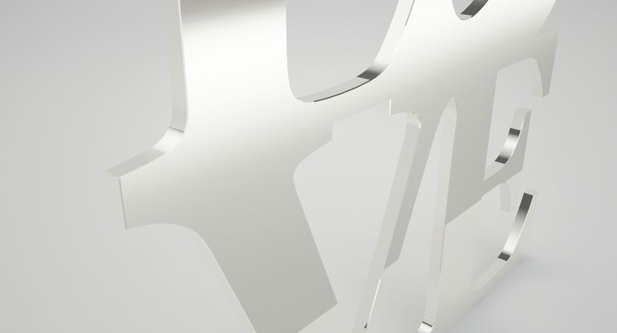 Espejo amor royalty-free modelo 3d - Preview no. 7