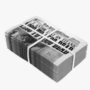 Viejo montón de periódico modelo 3d