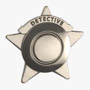 Badge de détective 02 3d model