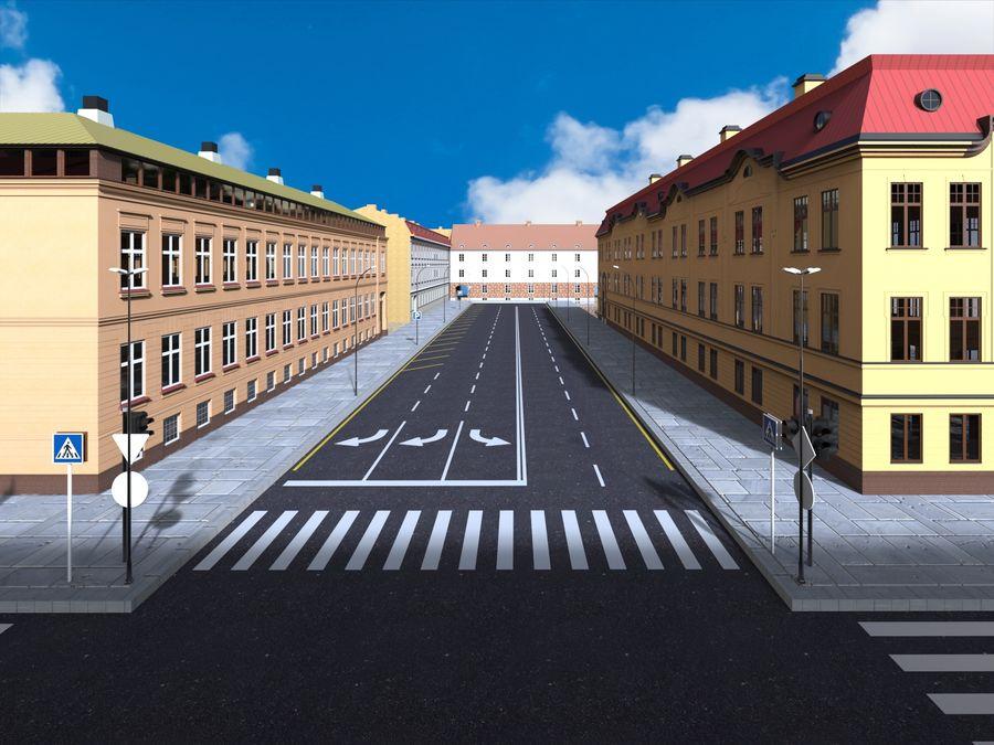Ciudad - Las calles de Europa royalty-free modelo 3d - Preview no. 3