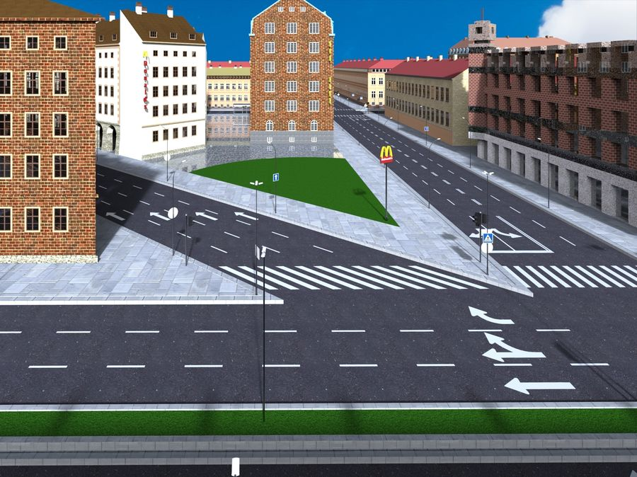 Ciudad - Las calles de Europa royalty-free modelo 3d - Preview no. 10